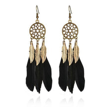 Load image into Gallery viewer, Feather Dreamcatcher Earring