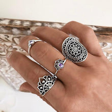 Load image into Gallery viewer, Boho Knuckle Lotus Rings