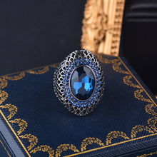 Load image into Gallery viewer, Luxury Vintage Gothic Crystal Ring