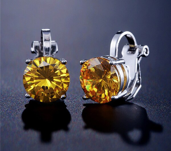 Clip On Austrian Crystal Earrings