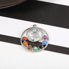 Load image into Gallery viewer, 7 Chakra Stones Pendant