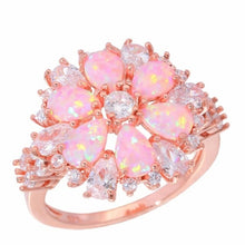 Load image into Gallery viewer, Lavish Large Pink Fire Opal Ring