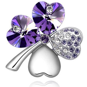Lucky Four Leaf Clover Brooch