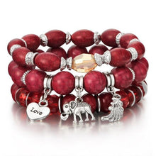 Load image into Gallery viewer, Boho Bead and Charm Bracelets