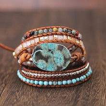 Load image into Gallery viewer, Boho Gilded Mixed Stone Bracelet