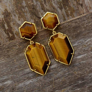Geometric Natural Stone Earrings