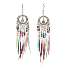 Load image into Gallery viewer, Native American Style Fringe Earrings