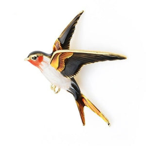 Flying Swallow Brooch