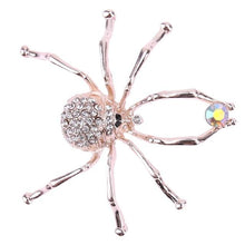 Load image into Gallery viewer, Boho Enamel Spider brooch