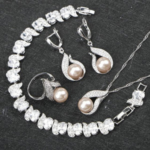The Champagne Faux Pearl Set