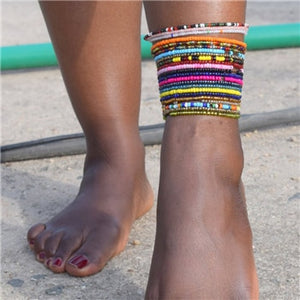 10 Piece Boho Anklet Set
