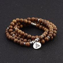Load image into Gallery viewer, Wooden Tibetan Rosary Bracelet
