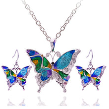Load image into Gallery viewer, Colorful Butterfly Jewelry Sets