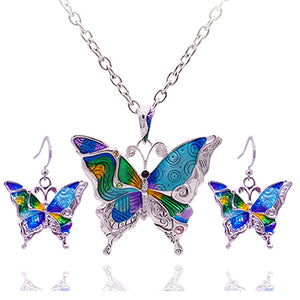 Colorful Butterfly Jewelry Sets