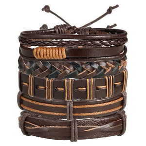 Straight Shooter Leather Bracelet