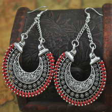Load image into Gallery viewer, Vintage Silver Bohemian Earrings