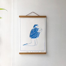 Load image into Gallery viewer, Breathe A3 risograph print