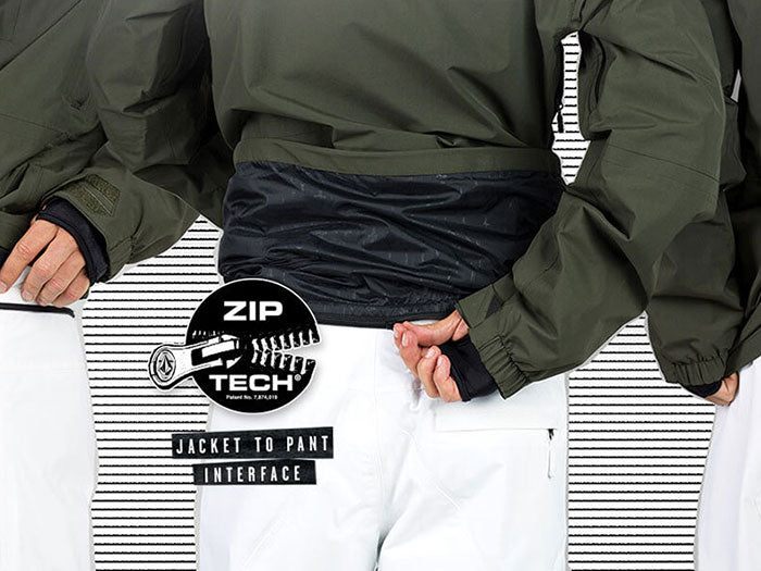 Volcom Zip Tech® Jacket-to-Pant System Keeps Snow Out