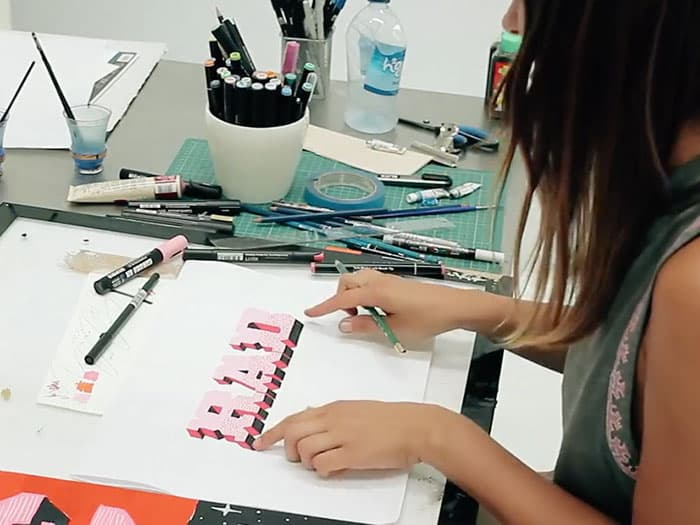 "Gemma O'Brien Teaches You Block Lettering Techniques in Volcom's ""School Of Cool"" Tutorial"