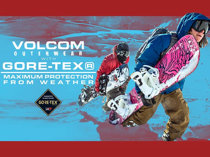 Volcom Outerwear with Gore-Tex Provides Maximum Protection from Weather