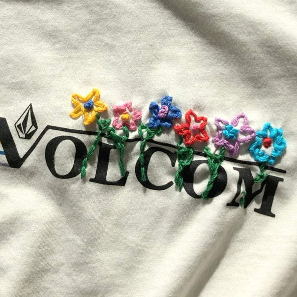 How To: Embroidered T-Shirt Tutorial - Volcom Holi-D.I.Y.'s