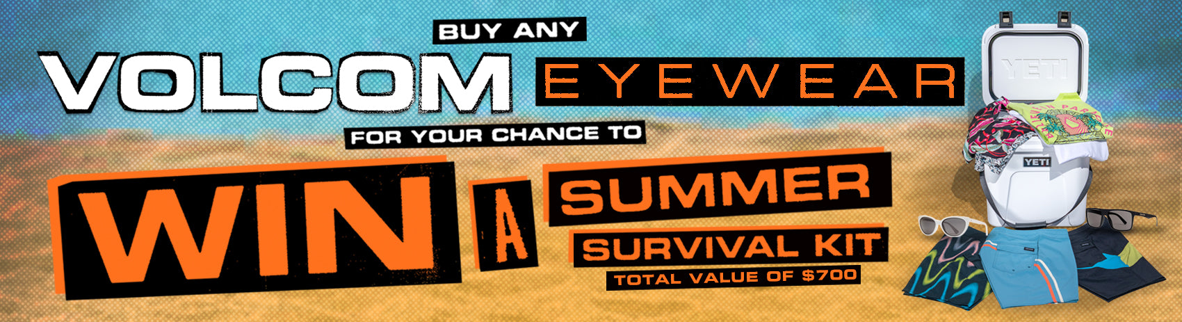 Buy any Volcom Eyewear for your chance to Win a Summer Survival Kit