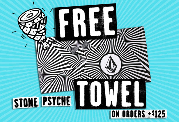 Free Volcom Stone Psyche Towel on orders $125+