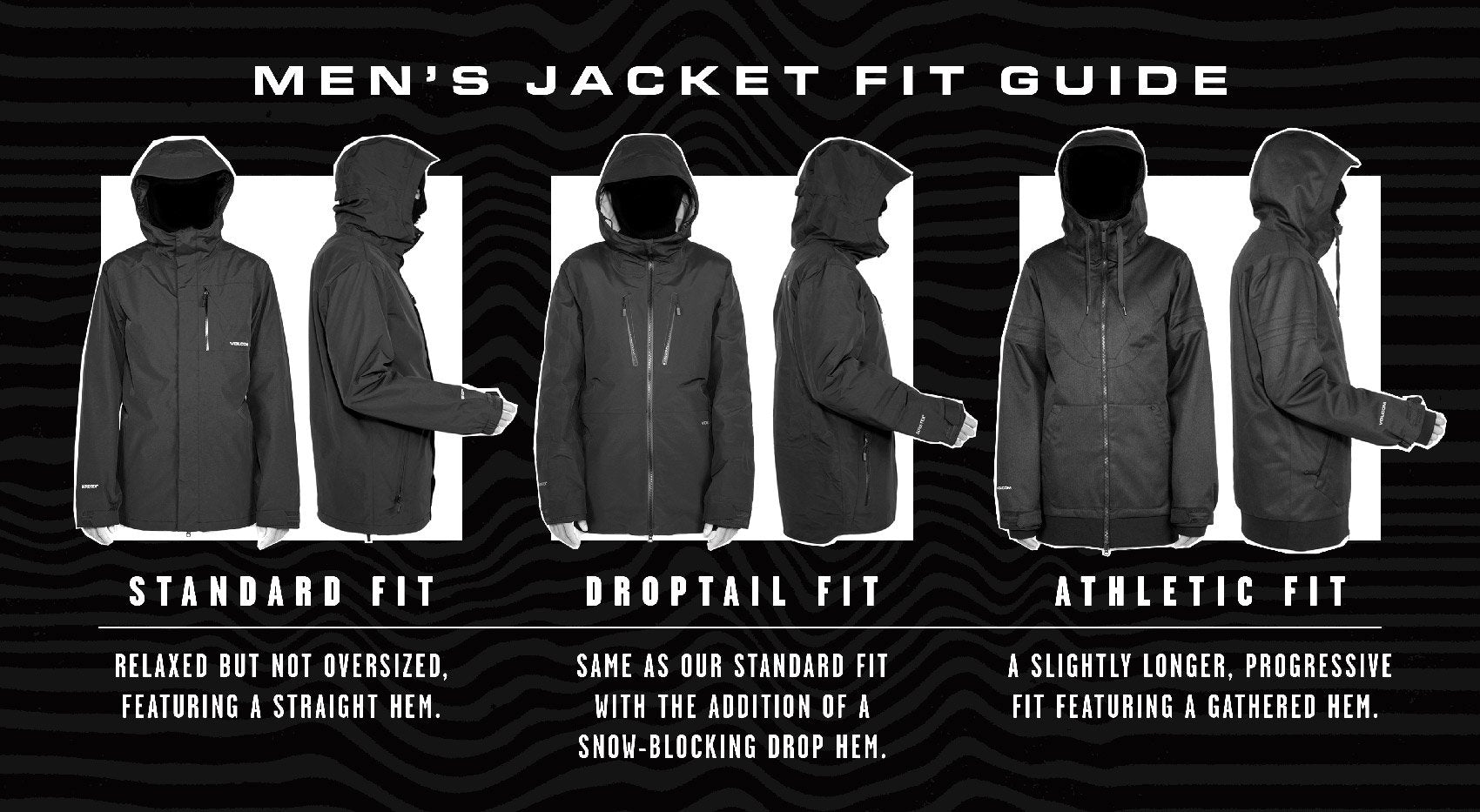 Volcom Mens Snow Jackets Size Guide