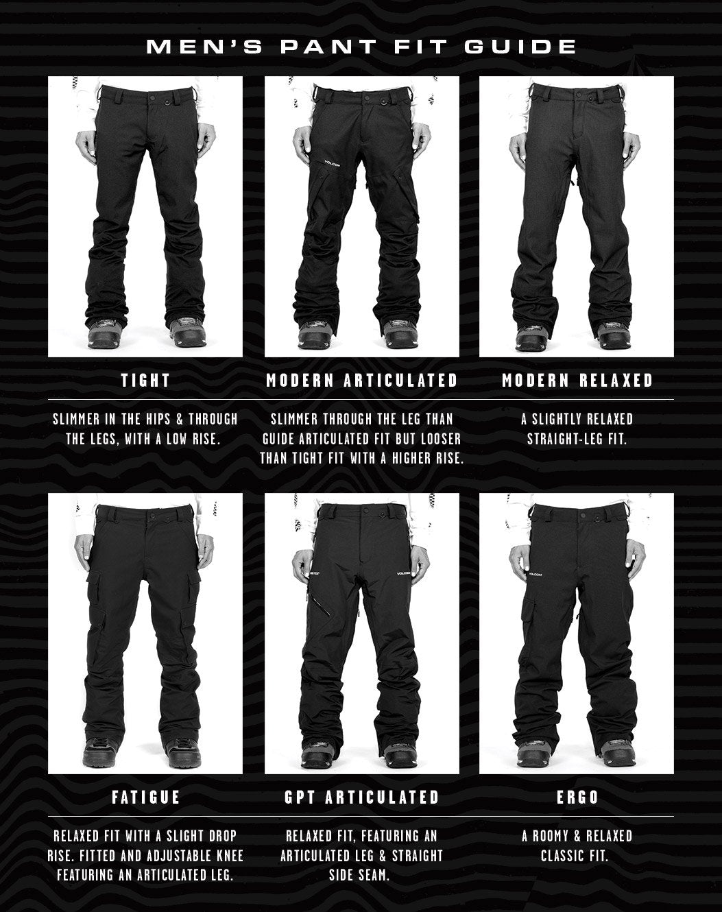 Voclom Mens Snow Pants Size Guide