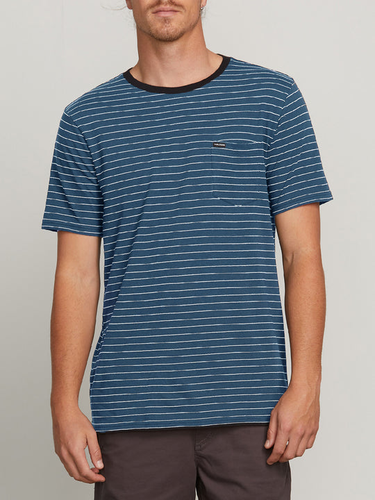 Stories Crew Tee - Deep Blue