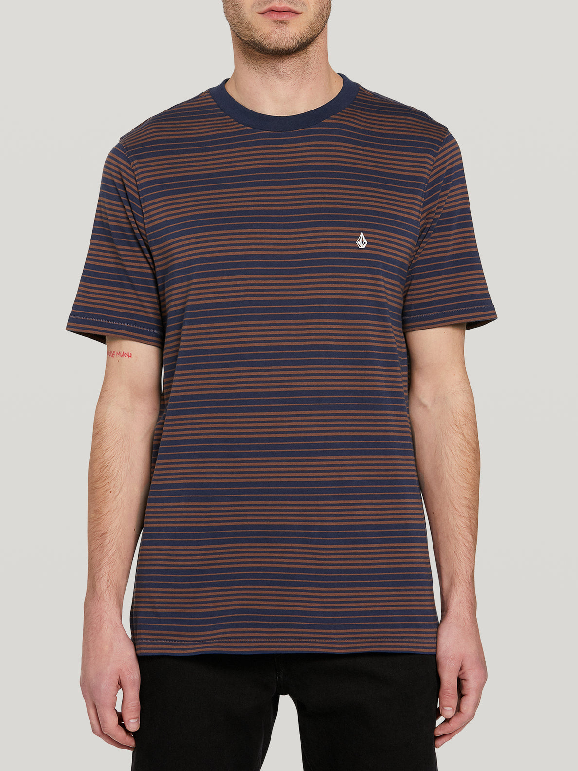 Pillars Stripe Crew S/s Atlantic (A0142002_ATL) [F]