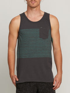 THREEZY TANK ASPHALT BLACK