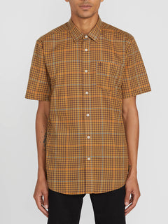Kelso Plaid S/s Bronze (A0412010_BRZ) [F]