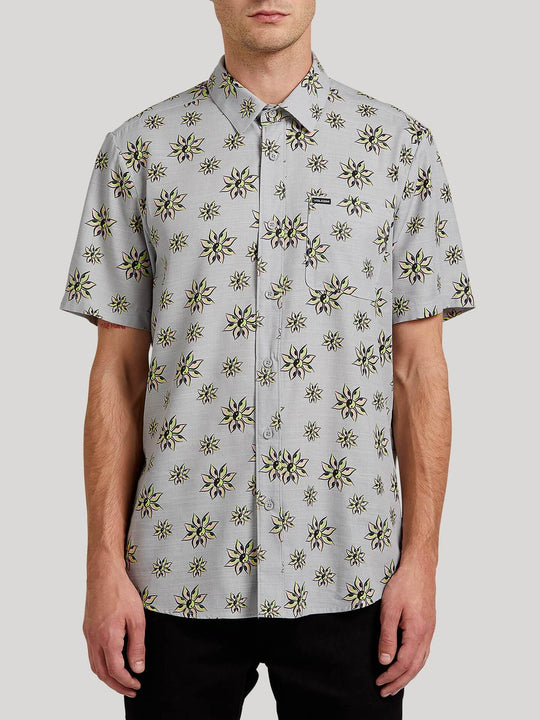 Burch Bloom Short Sleeve Shirt - Tower Grey