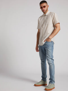 Stone Stamp Short Sleeve White Flash (A0431905_WHF) [1]