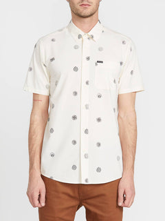 Op Dot Short Sleeve Shirt - White