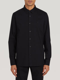 Oxford Stretch L/s New Black (A0511801_NBK) [F]