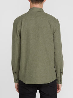 Caden Solid Long Sleeve Shirt - Army Combo