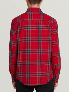 Caden Plaid Long Sleeve Engine Red (A0531906_ENR) [B]
