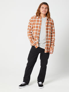 Repeater L/s Flannel Vintage Brown (A0542003_VBN) [B]