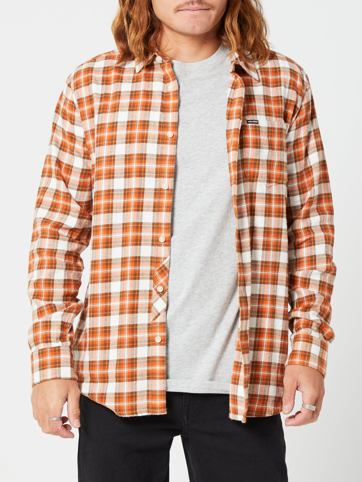 Repeater L/s Flannel Vintage Brown (A0542003_VBN) [F]