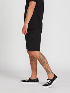 Frickin Modern Stretch Chino Shorts - Black (A0931602_BLK) [3]