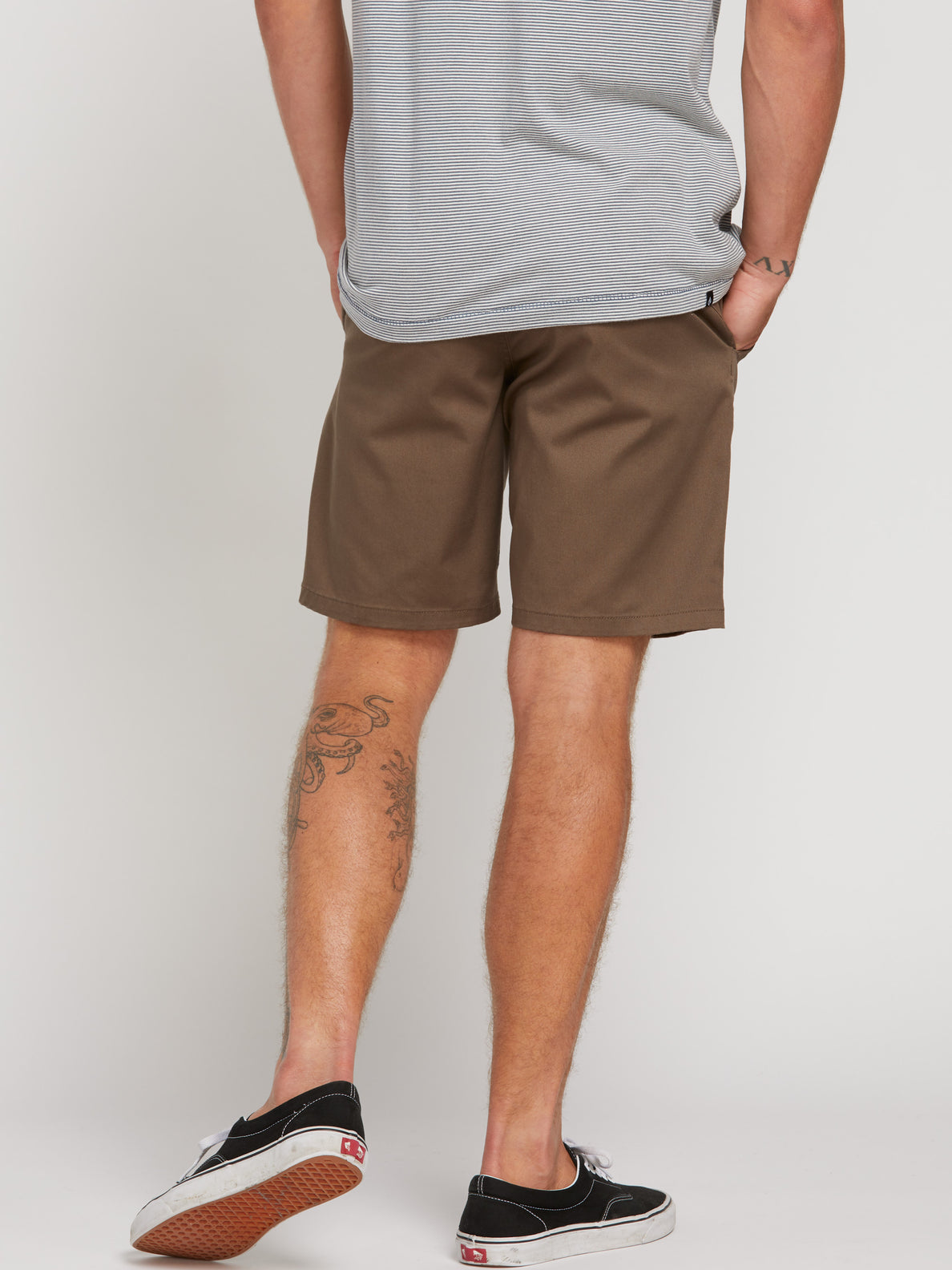 Frickin Modern Stretch Chino Shorts - Mushroom (A0931602_MSH) [3]