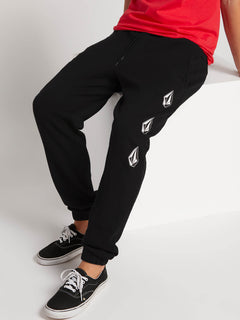 Deadly Stones Track Pants - Washed Black