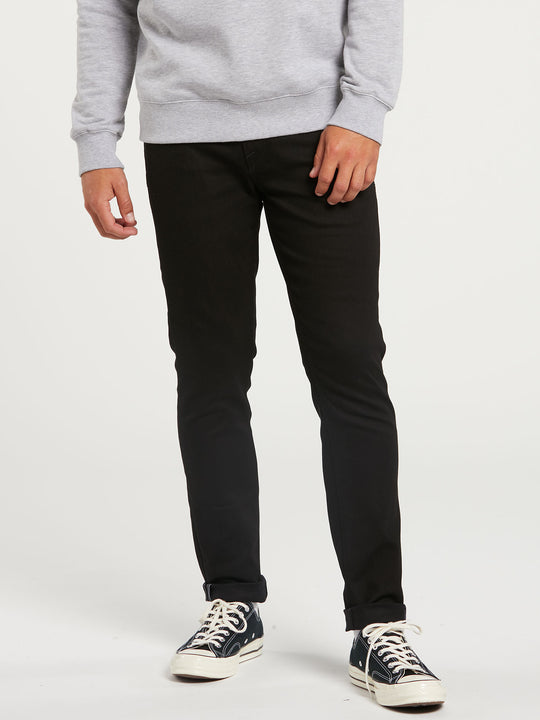 2X4 Tapered Skinny Fit Jeans - Black On Black