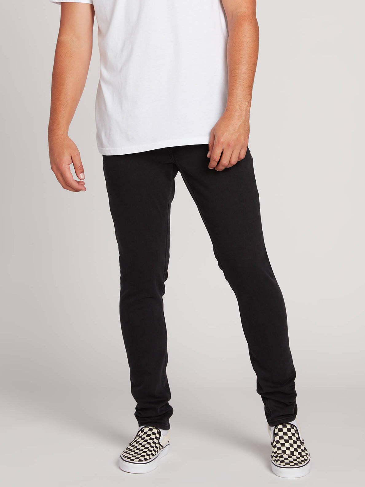 2X4 Tapered Skinny Fit Jeans - Ink Black (A1931610_INK) [1]