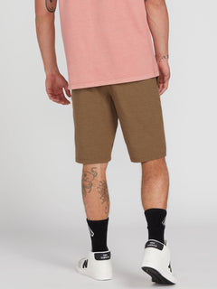 Frickin Surf N' Turf Static 2 Hybrid Shorts - Vintage Brown