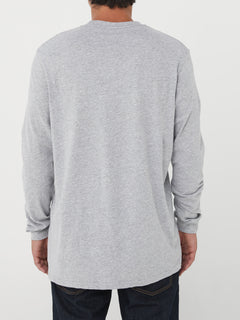 Via Stone Long Sleeve Tee - Heather Grey