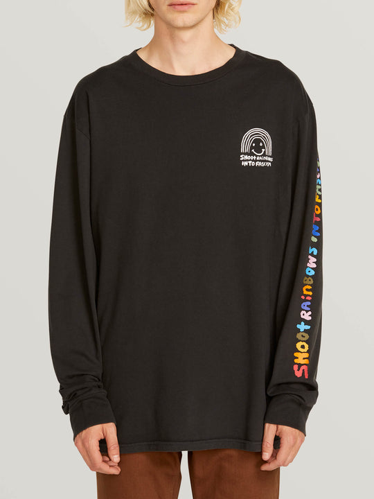 Ozzie Rainbow Long Sleeve Tee - Black