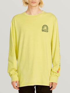 Ozzie Rainbow Long Sleeve Tee - Lime